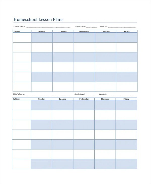 Printable Lesson Plan - 7+ Free Word, PDF Documents Download Free