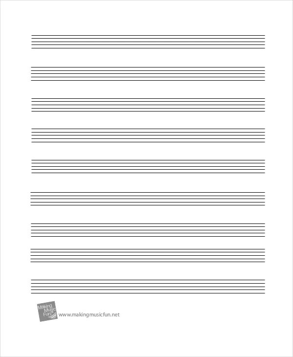 Printable Staff Paper - 6+ PDF Documents Download Free  Premium