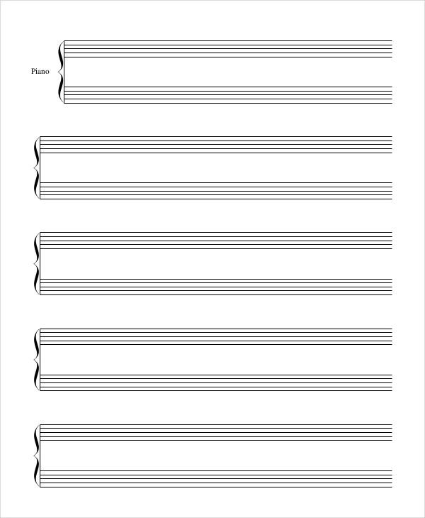 piano staff paper pdf - Acurlunamedia
