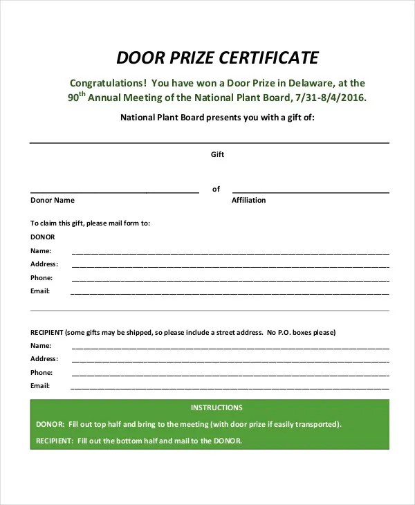 Prize Certificate Template - 11+ Free PDF Documents Download Free