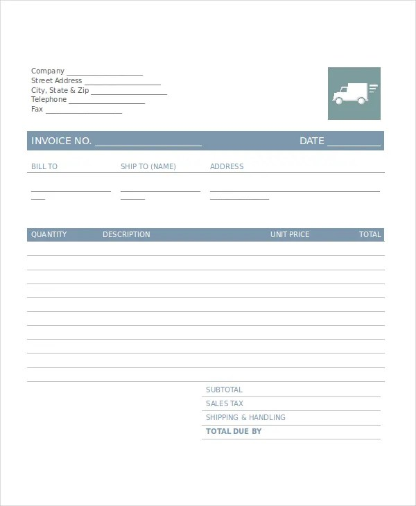 Company Invoice Template - 5+ Free Word, Excel, PDF Document - company invoice template