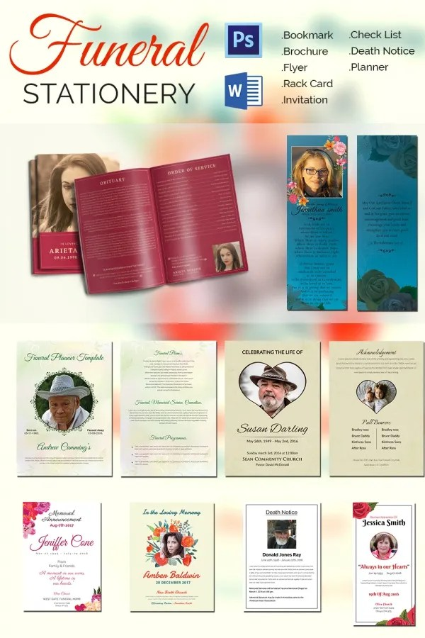 5+ Funeral Stationery Templates - Word, PSD Format Download Free