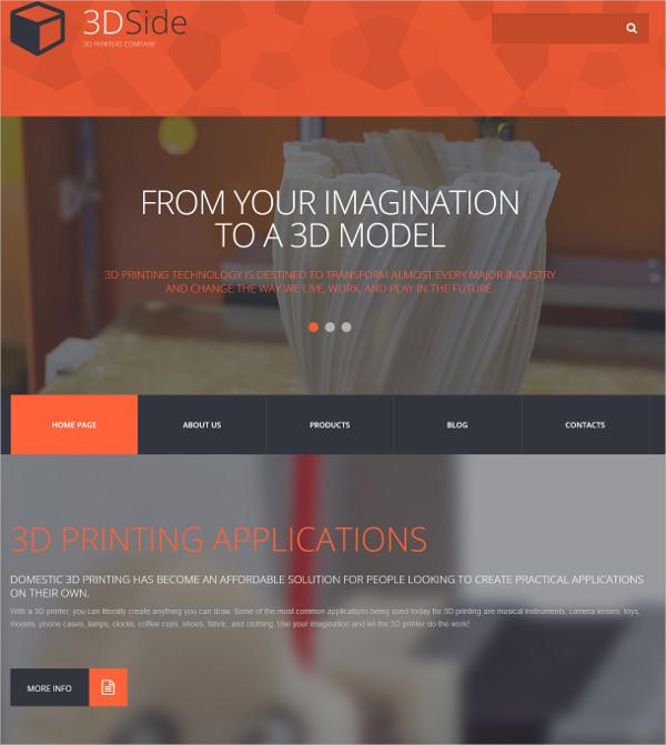 13+ 3D WordPress Themes  Templates Free  Premium Templates
