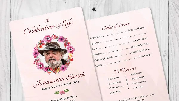 5+ Funeral Order of Services - Word, PSD Format Download Free