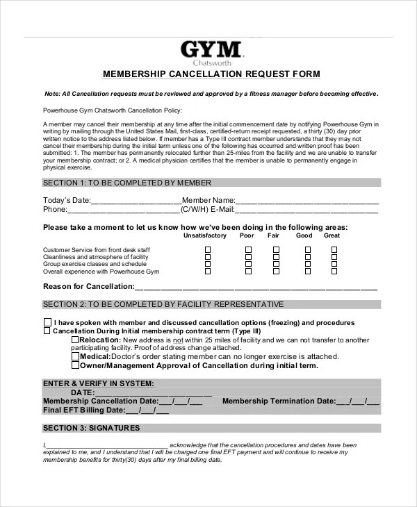 7+ Cancellation Letter Templates - PDF, DOC Free  Premium Templates