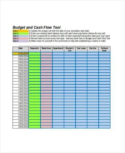 Cash Flow Excel Template - 13+ Free Excels Download   Free & Premium Templates