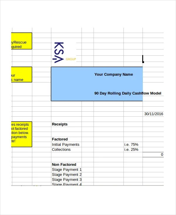 Cash Flow Excel Template - 11+ Free Excels Download Free  Premium
