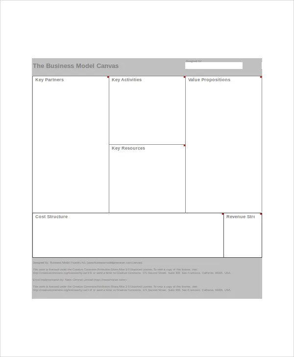 Business Model Canvas Excel Business Model Canvas And Lean Canvas