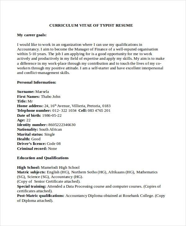 5+ Stenographer Resume Templates - PDF, DOC Free  Premium Templates - stenographer resume