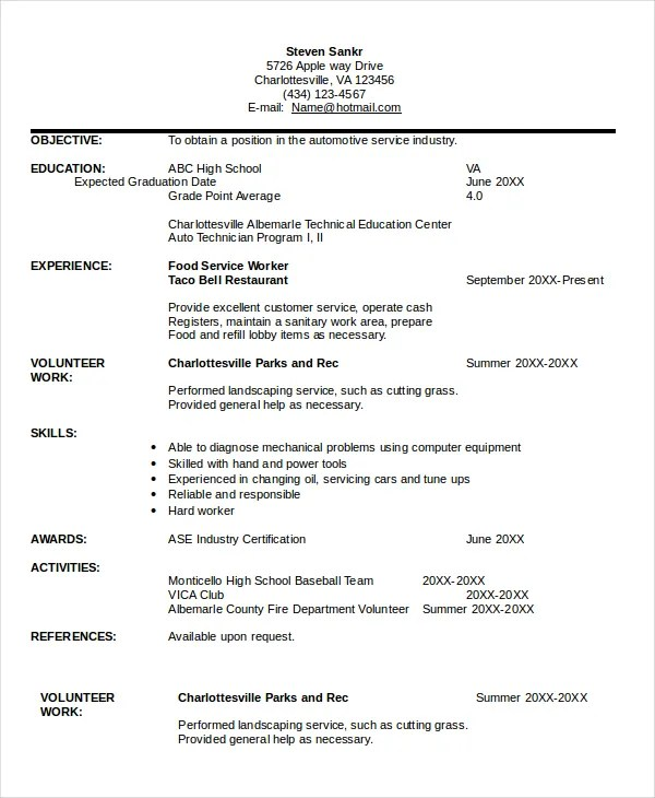 Technician Resume Template - 8+ Free Word, PDF Documents Download