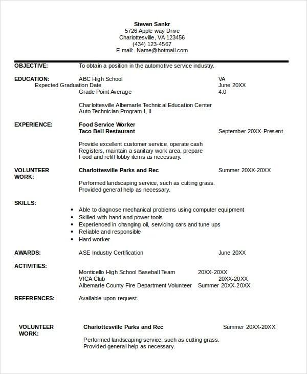 English homework help online - COTRUGLI Business School automotive - auto technician resume