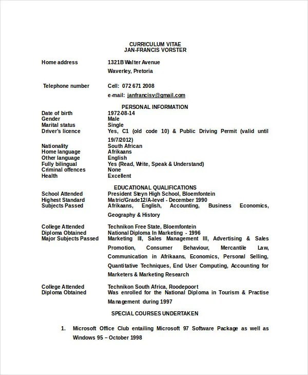 Zookeeper Resume - 5 Free Word, PDF Documents Download Free