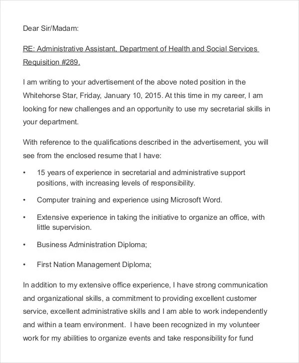 Resume Cover Letter - 23+ Free Word, PDF Documents Download Free
