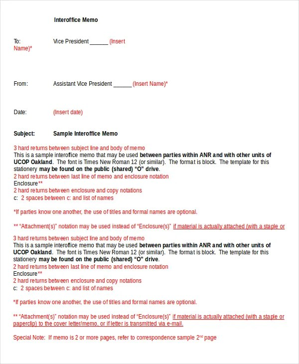 Word Memo - 6+ Word Documents Download Free  Premium Templates - inter office letter