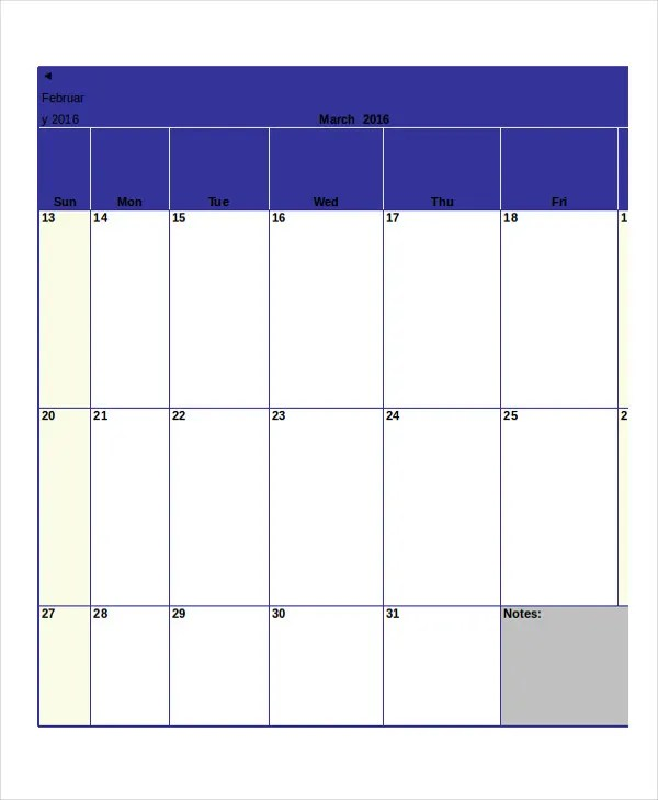 Monthly Calendar - 13+ Free Word, PDF Documents Download Free - monthly calendar templates