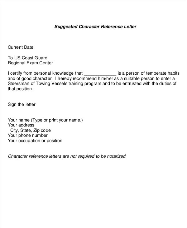 Reference Letter - 12+ Free Word, PDF Documents Download Free