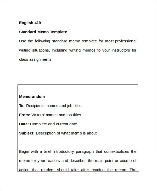 Memo Format - 15+ Free Word, PDF Documents Download Free  Premium