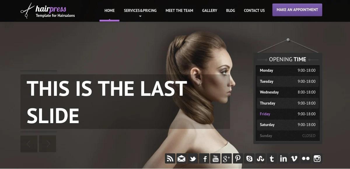 16+ Hair Salon Website Templates  Themes Free  Premium Templates