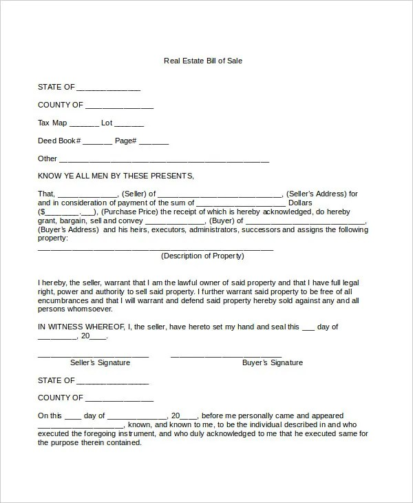Bill Of Sale Form - 13+ Free Word, PDF Documents Download Free - equipment bill of sale template