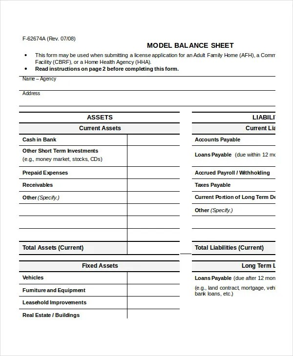 Simple Balance Sheet - 20+ Free Word, Excel, PDF Documents Download