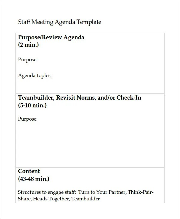 Word Agenda Template - 6+ Free Word Documents Download Free - agenda word