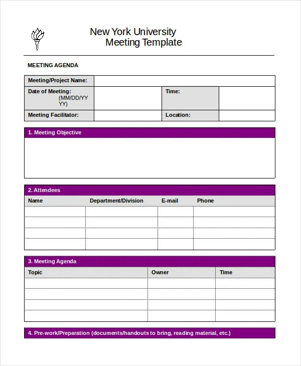 Word Agenda Template - sample meeting agenda 2