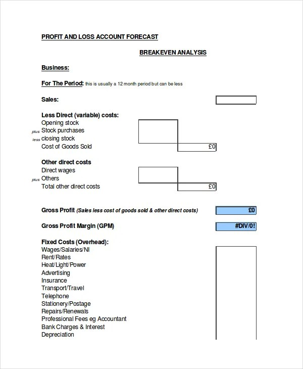 Excel Forecast Template - 11+ Free Excel Documents Download Free