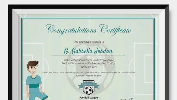 Award Certificate Template -23+ Free Word, PDF, PSD Format Download