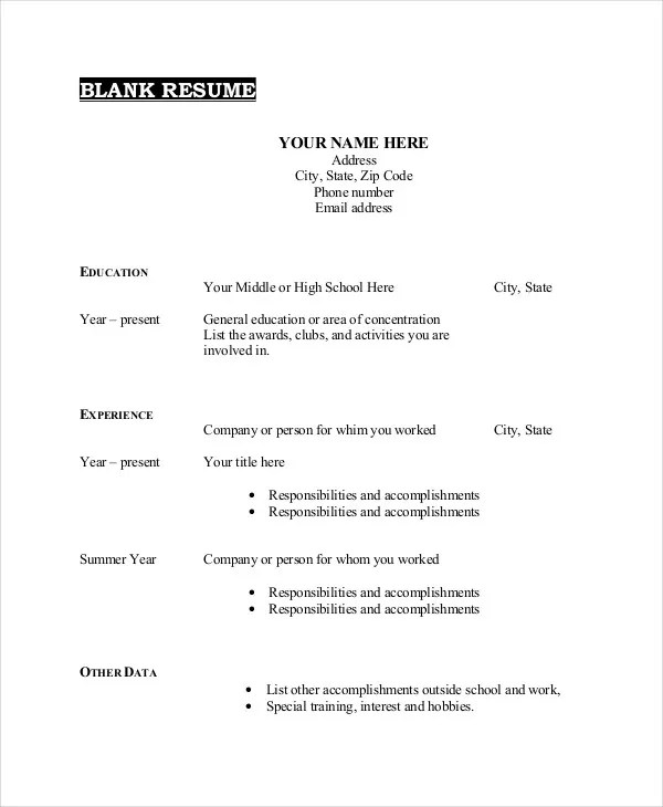 26+ Best Resume Formats - DOC, PDF, PSD Free  Premium Templates