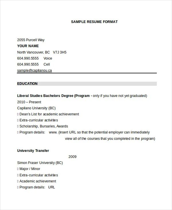 26+ Best Resume Formats - DOC, PDF, PSD Free  Premium Templates - What Is Resume Format