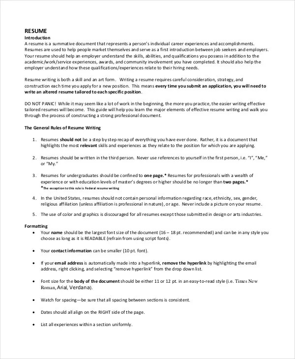 Resume Document Format Best Latest Resume Format Ideas On Good - resume third person