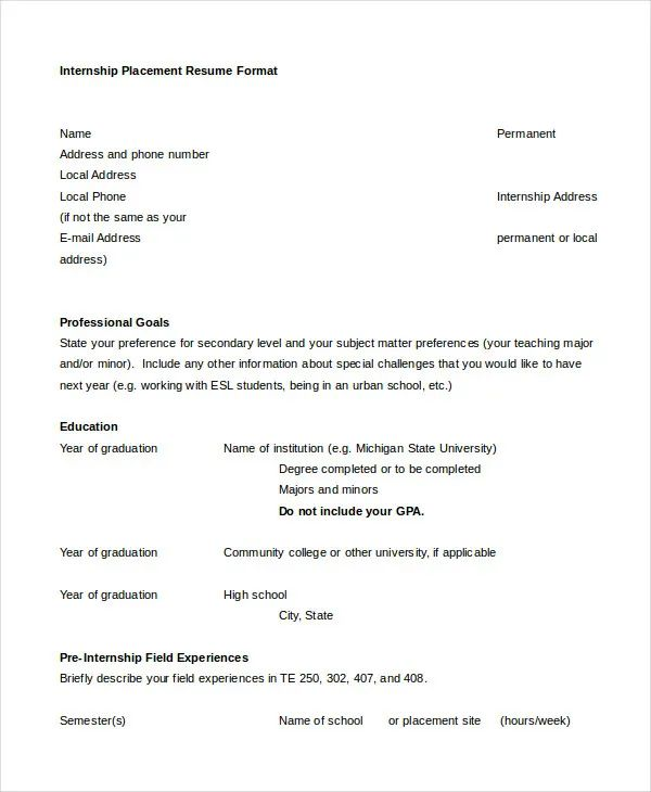free template for college resume