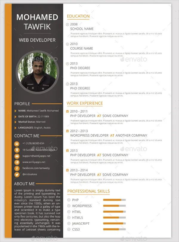 resume templates for education
