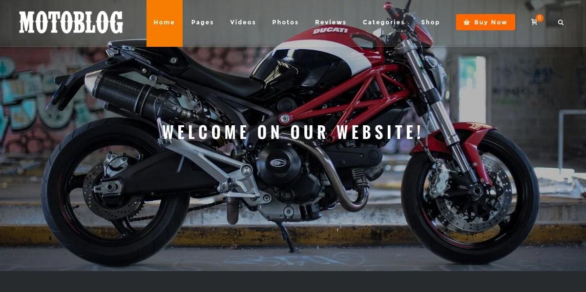 12+ Motorcycle WordPress Themes  Templates Free  Premium Templates
