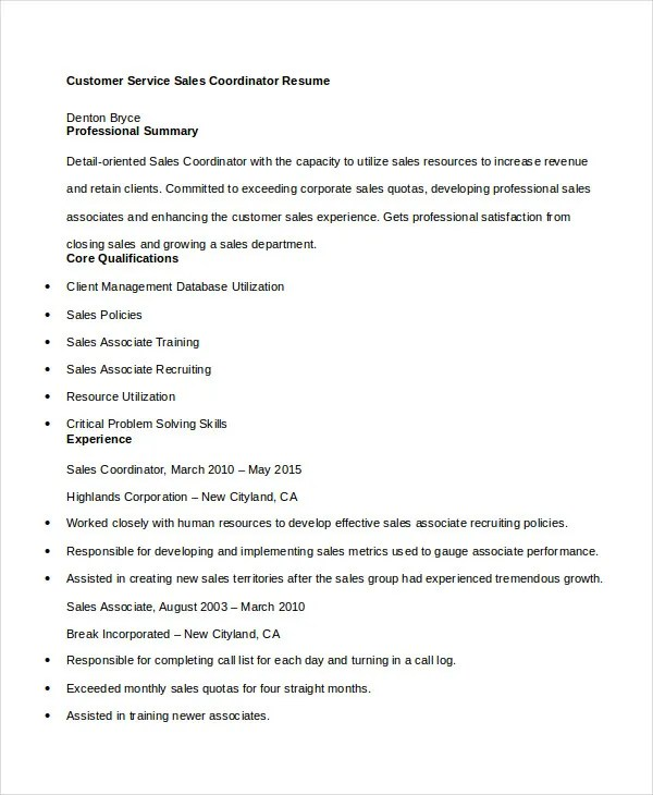 11+ Customer Service Resume Templates - PDF, DOC Free  Premium