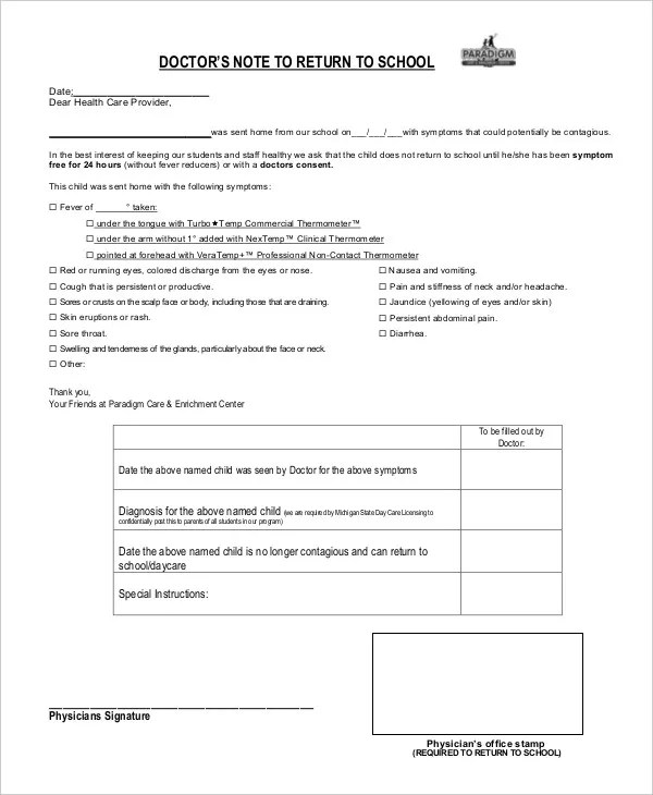 Doctors Note Template - 8+ Free Word, PDF Documents Download Free - doctor note word