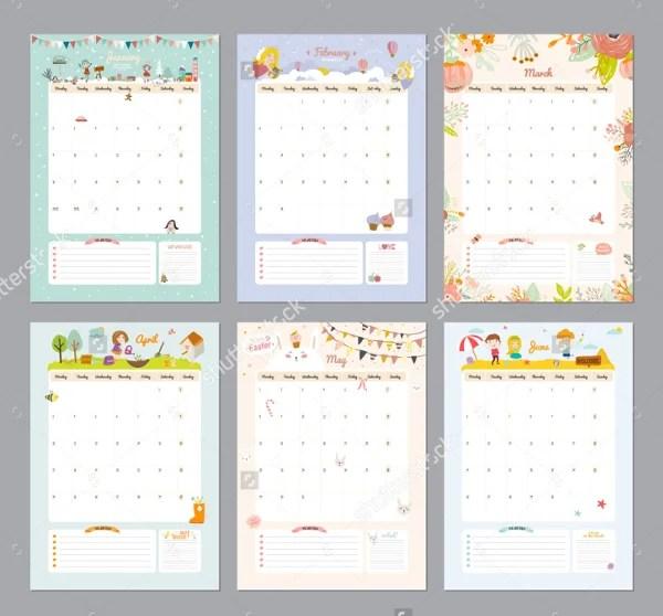 Printable Calendars -18+ Free PSD, Vector, AI, PDF, Word Document