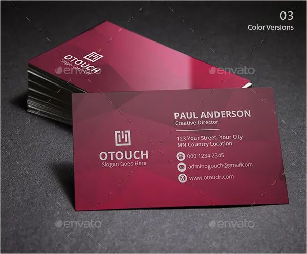 personal business cards templates