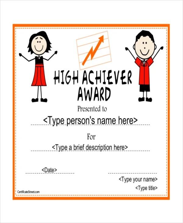 9+ Award Certificate Examples Free  Premium Templates