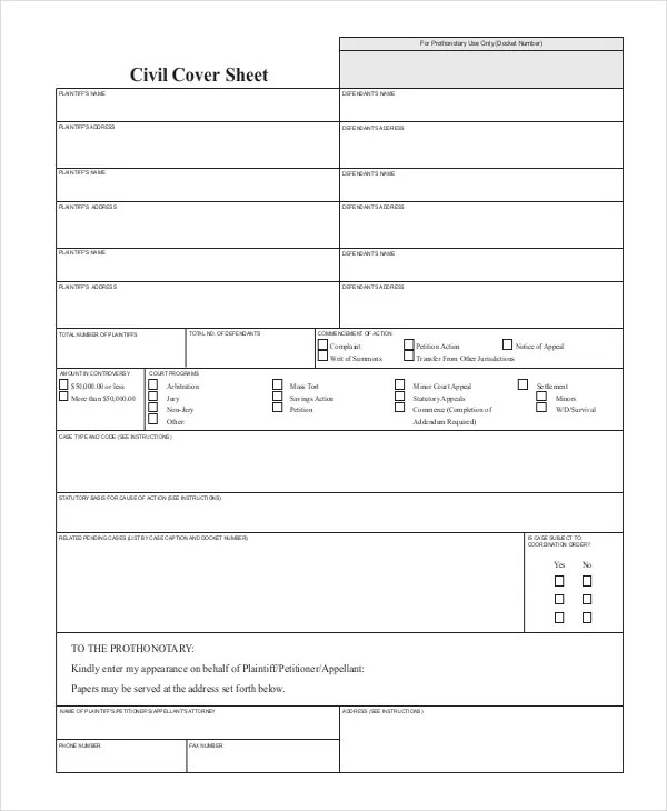 9+ Cover Sheet Examples Free  Premium Templates - cover sheet examples