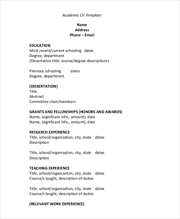 cv template pdf - Onwebioinnovate - Samples Of Cv Format