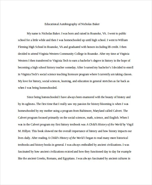8+ Autobiography Examples - PDF, DOC Free  Premium Templates