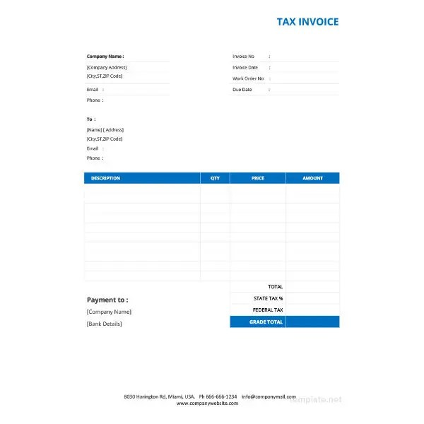 Invoice Template - 43+ Free Documents in Word, Excel, PDF Free