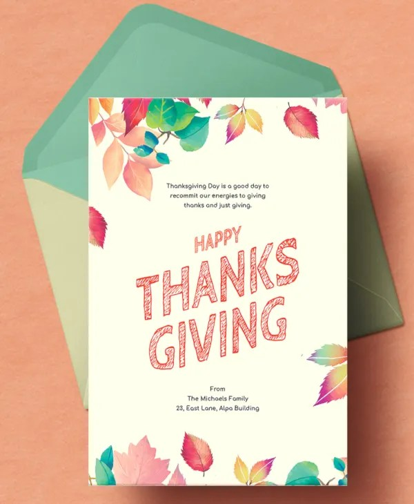 29+ Beautiful Happy Thanksgiving Cards - Free PSD, Vector AI, EPS