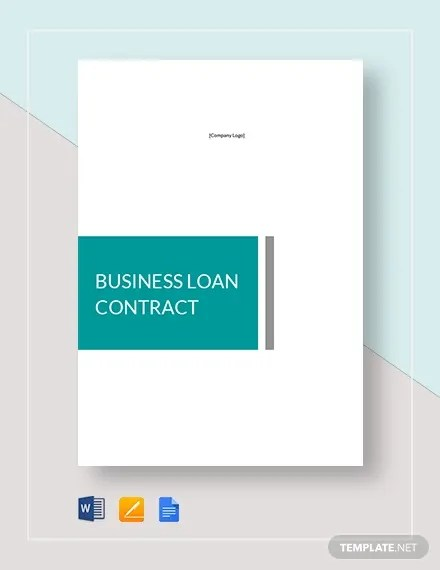 11+ Loan Contract Templates - Word, Pages Free  Premium Templates