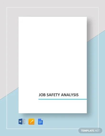 10+ Sample Job Safety Analysis Templates - PDF, DOC Free  Premium