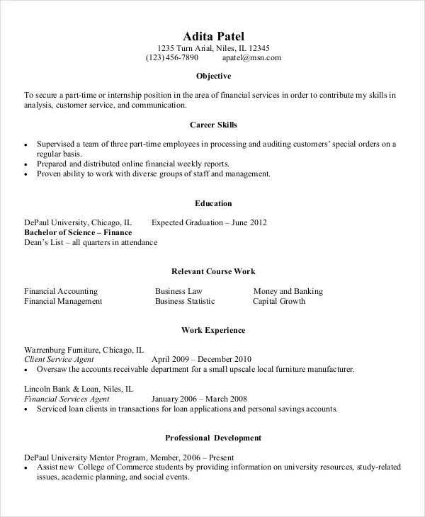 9+ Entry Level Resume Examples - PDF, DOC Free  Premium Templates