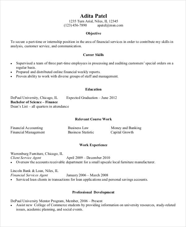 example of entry level developer resume