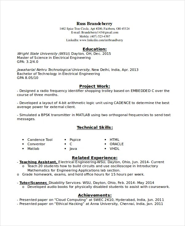 9+ Entry Level Resume Examples - PDF, DOC Free  Premium Templates - resume for entry level