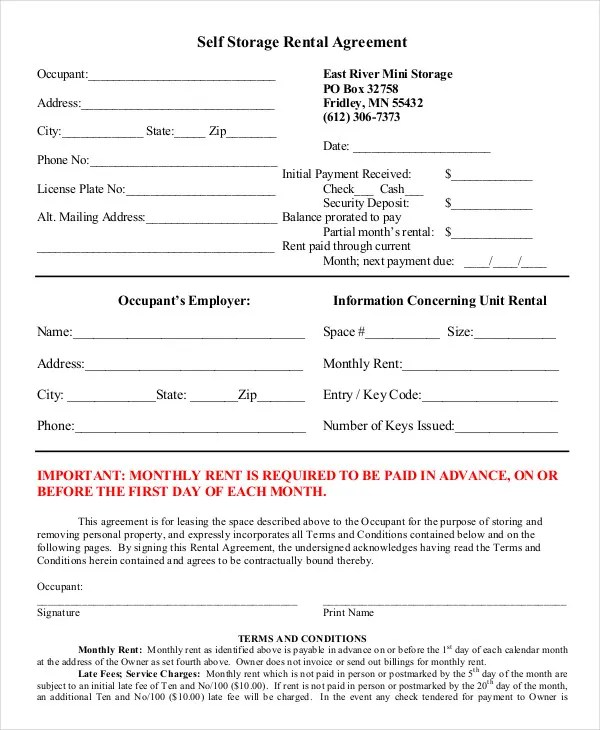 Rental Agreement Form - 11+ Free Sample, Example, Format Free - sample lease agreement template